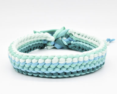 Pet Collar in Green Ombre